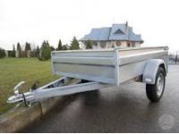 (500 kg) Lengvojo automobilio vienašė priekaba TAURAS B 701