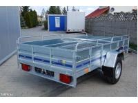 2,65 m ilgio lengvojo automobilio vienašė priekaba SUSKI WNP